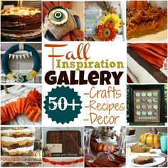 Fall Inspiration Gallery - this is LOADED with tons of great ideas for fall! via @Myra of My Blessed Life