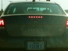 Best Texas License Plate EVER!!