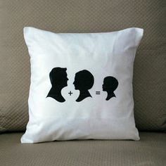 silhouette projects, famili, craft idea, silhouett pillow, silhouettes