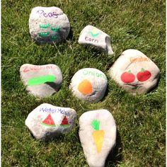 Garden stones.