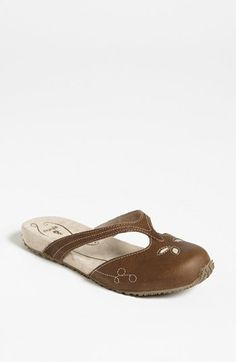 Ahnu 'Zen' Clog leather chocolate chip, colony blue sz7.5 79.95