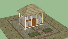 neat idea, rectangular gazebo, inspir idea, garden idea, outdoor plan, gazebo plan