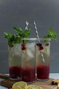 Pink Patisserie: Cranberry Mint Cocktail