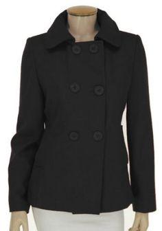 Women's Wool Peacoat - Black