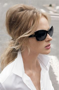 Prada Cat's Eye Sunglasses  if I were rich!