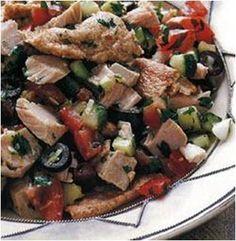 Tunisian Fattoush with Tuna Recipe #stepbystep
