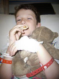 After another set of grommets. (Barnet Hospital, 2007)