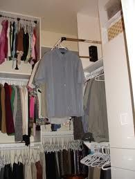 3 rows of clothes with this pull down closet rack !