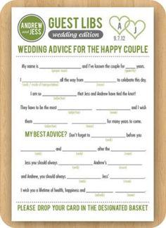 guest lib, wedding ideas guest book, weddings, reception mad libs wedding, guestbook, wedding guests, wedding guest book idea, guest book idea for wedding, wedding guest books ideas