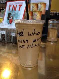 This guy told the coffee shop his name was Voldemort. I love his barista.