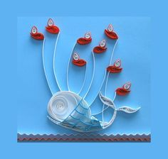 twitter, craft, bookmark, fail whale, pop up cards, paper, quilling patterns, artwork, whales