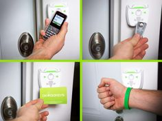 Okidokeys Smart Lock System locks and unlock your home door with all mobile phones (including non-smartphones) and Okidokeys RFID Smart-Tags. getdatgadget.com/okidokeys-throw-keys-away/
