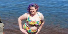 """One of our favorite blog posts of the summer.  """"The reason these people do not want to see a fat body in a bikini is because traditionally, that garment is something a woman earns by proving herself attractive enough to exist. If fat women begin wearing them without shame or fear, what's next? Will they have self-esteem? Will they demand respect? Then what will keep them in their proper place? How would conventionally attractive people judge them?"""""""