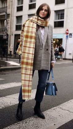 Plaid oversized blaz
