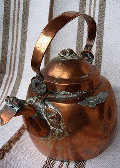 Copper coffee kettle