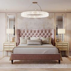Bedroom decor always needs a luxurious  lamp. Discover the perfect lighting fixture for your interior design project at luxxu.net #interiordesignideas #luxury #interiordesign #lighting #bedroom #bedroomdecor