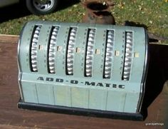 Add-O-Matic - Vintage Adding Machine from late 30s - Free Shipping
