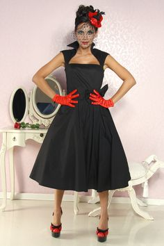 Vestido Pin Up negro