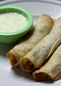Creamy Baked Chicken Taquitos | The Nifty Foodie