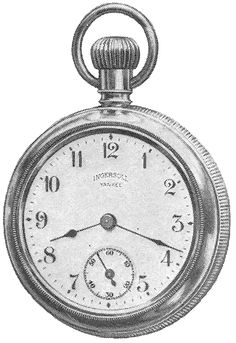 Knick of Time: Antique Graphics Wednesday - 2 Pocket Watch Images