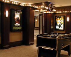 basement theater lighting idea