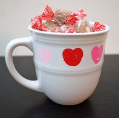 Valentine Thumb Heart Mug