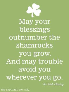 Irish Blessing Quote Subway Art Digital File by TheEducatedOwl❤️