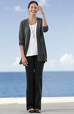 Pure Jill shirred-back cardigan | www.jjill.com
