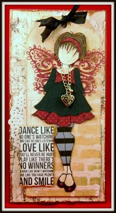 Robbi Bell - Prima Mixed Media Doll Stamp Card