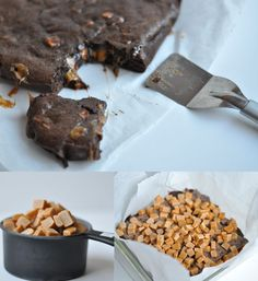 Brownie de chocolate y caramelos de toffee / http://www.thisheartofmineblog.com/