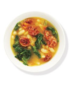 White Bean and Escarole Soup With Chicken Sausage Recipe