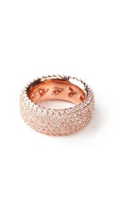 Beautiful rose gold ring