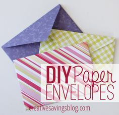 How adorable are these DIY Paper Envelopes? Skip plain white ones and send these cuties instead. They are addicting and so easy to make!