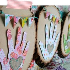 Paper handprint crafts