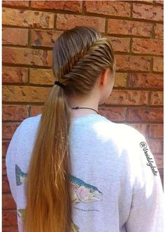 french fishtail with ponytail