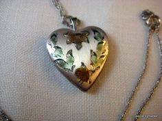 Sterling Silver Heart Flowers Locket Pendant by DecoratingYourself, $16.00