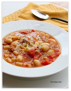 The Italian Dish - Posts - Sausage and Bean Soup with Pasta