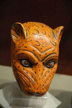 Jaguar Mask From Mexico by Teyacapan, via Flickr