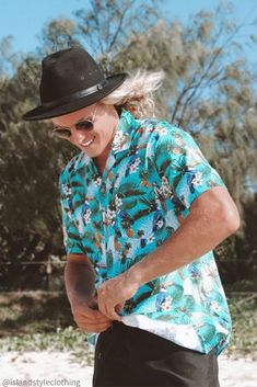 Mens Hawaiian Shirt - It's a TOUCAN PARTY! 100% cotton. We have exact matching mens cotton shorts also for full PARTY KIT! #hawaiianshirt #hawawaiianshirts #partyshirt #alohafriday #toucanparty #luaushirt #cruisewear #islandstyleclothing #partykit #unishirt #schoolies #pineappleshirt