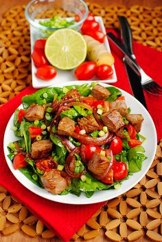 Sizzling Asian Steak Salad... awesome entree salad :)