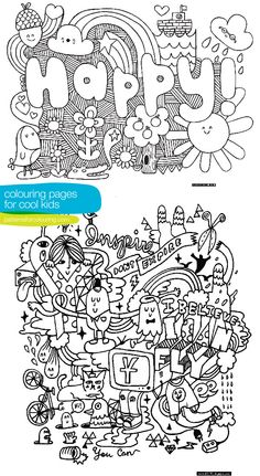 Colouring pages for cool kids. | Colour Me There