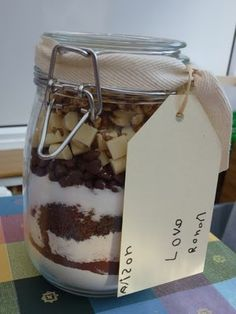 Cookies, brownies, and biscuits in a jar