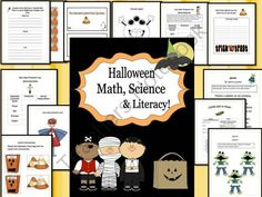 "Halloween Math, Science, And Literacy Unit 40  Pages! from EngagingLessons on TeachersNotebook.com -  (40 pages)  - This Halloween Unit is packed with activites for Math, Science, and Literacy that are super engaging and all centered around a ""Halloween"" theme to make for fun learning!  Unit includes:  Spooks: Poetry/noun Activity  ""How many Pumpkins Tal"