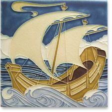 Magic Ship by Motawi Tile