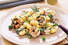 (Healthy) Pasta Recipes | Potato Gnocchi with Shrimp and Peas
