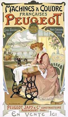French sewing machine trade card