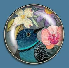 Big Click Magnet - Geninne Zlatkis Floral Bird