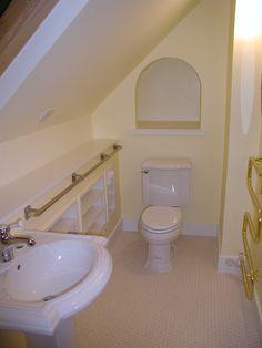 Bathroom on pinterest attic bathroom bathroom and slanted ceiling