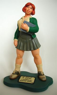 """The Girls of R. Crumb Statue"": Catholic Girl - I want this so much!"