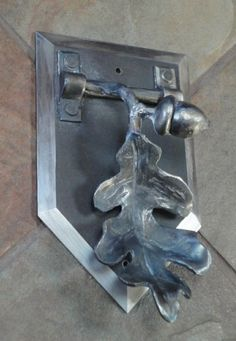 Oak Branch Door Knocker by Incandescent Ironworks, Ltd.